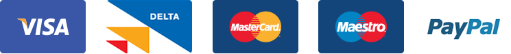 Visa Delta MasterCard Maestro Paypal