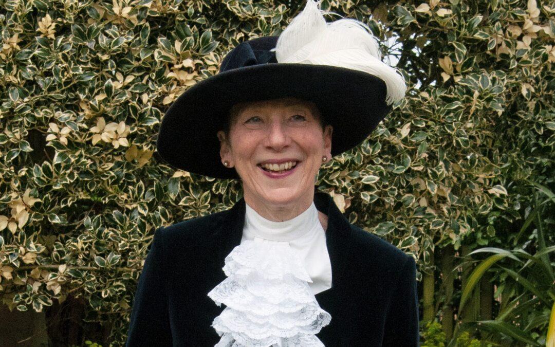 Professor Liz Fradd as High Sheriff of Nottingham